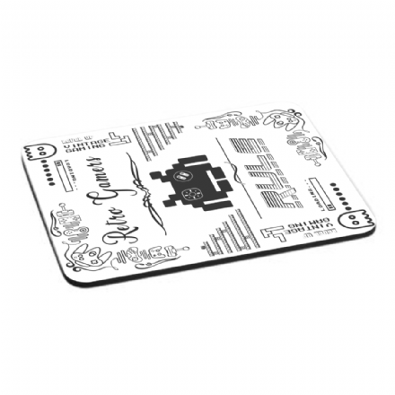Retro Gamers Rule Vintage Gaming Arcade Design Mouse Mat